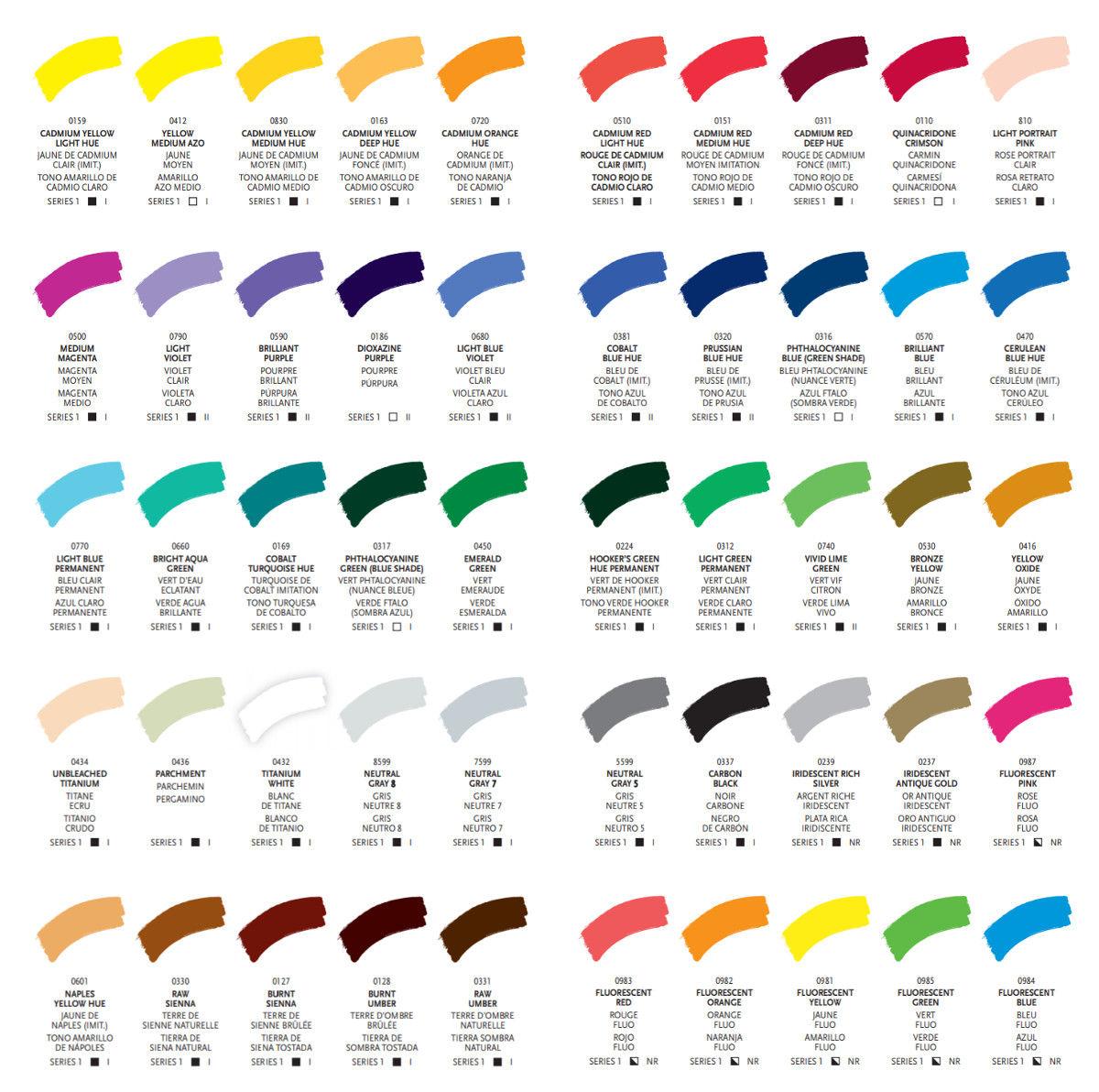 Carta de colores Liquitex
