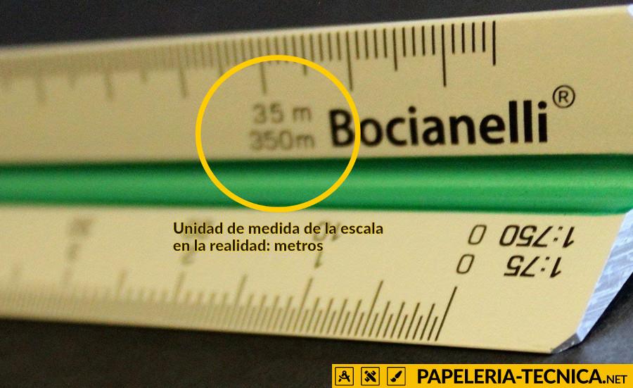 Unidad de medida de la escala de un escalímetro