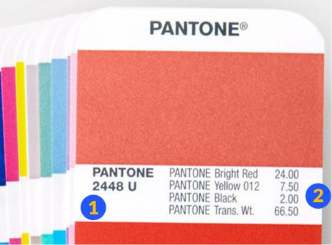 Pantone Solid Formula Formulación Tinta