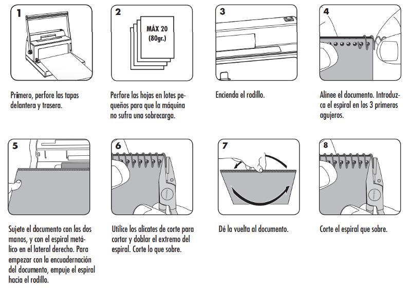 Instrucciones para encuadernar