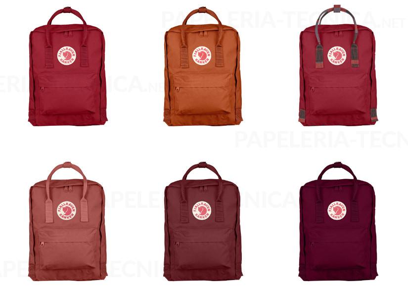 Tonos Kanken rojos mochila escolar