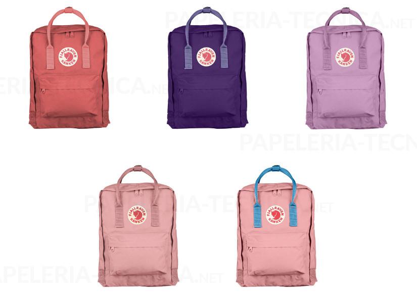 Mochilas escolares Fjallraven colores rosas
