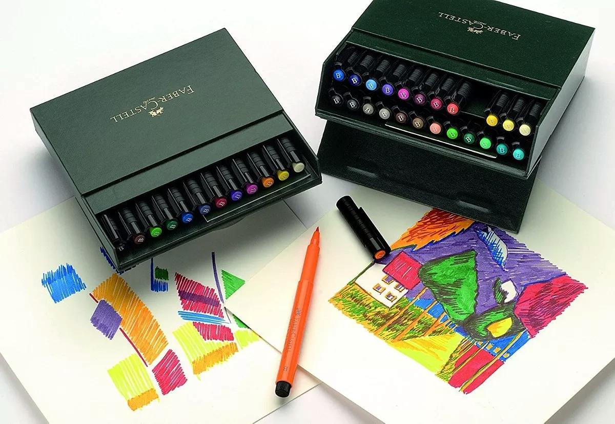 Rotuladores de tinta china Faber-Castell Pitt Artist