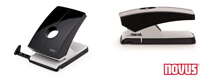 Rapid Supreme SP34 24845701 Perforadora de 4 agujeros color negro 30 x 80 gsm, requiere poco esfuerzo