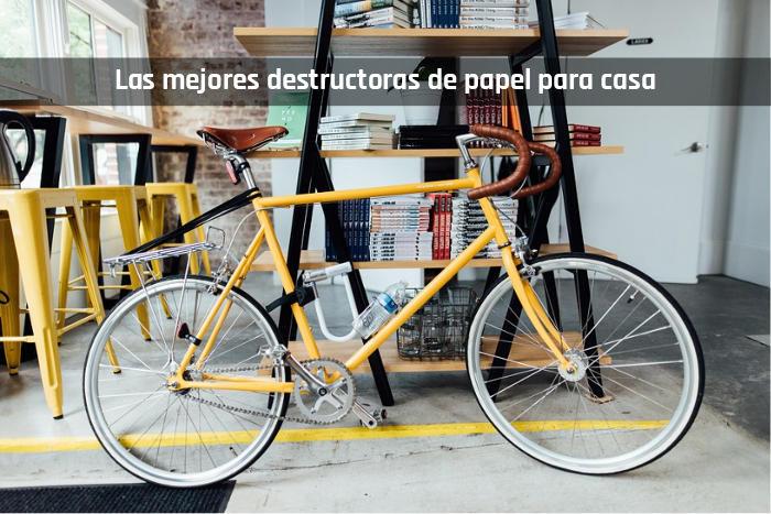 Bicicleta y mejores destructoras de papel para casa