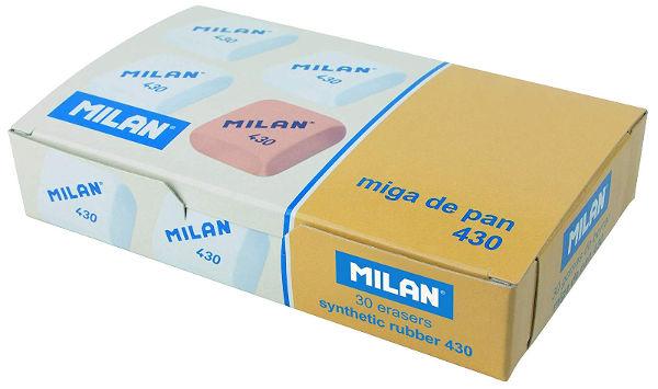 Caja de gomas de borrar Milan 430