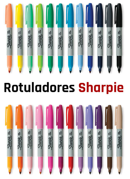 Colores de los rotuladores permanentes Sharpie