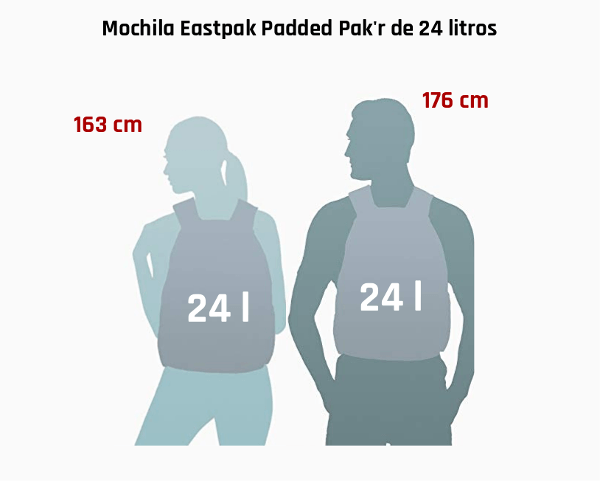 Formato mochila juvenil Eastpak