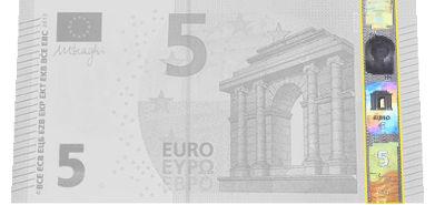 Holograma billetes de euro