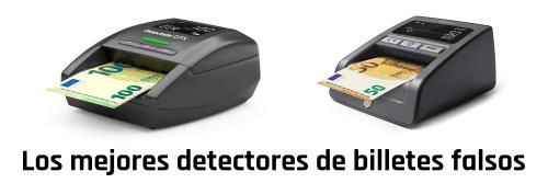 Los mejores detectores de billetes falsos Detectalia y Safescan
