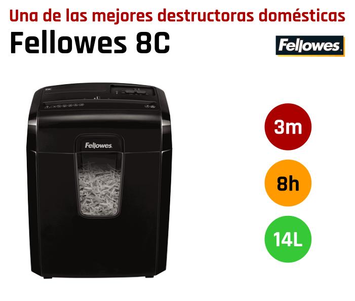 Mejor destructora doméstica Fellowes 8C