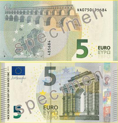 Papel del billete de euro