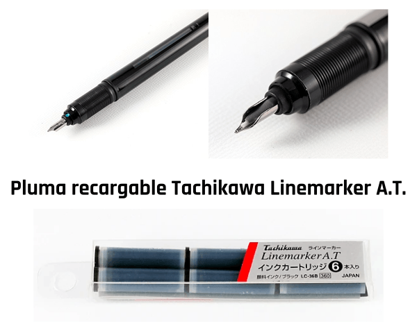 Pluma recargable Tachikawa Linemarker A.T.