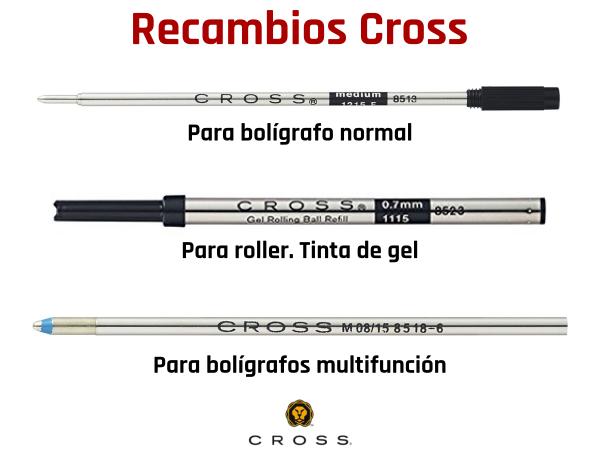Recambios para bolígrafos Cross