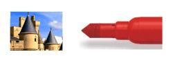 Rotulador doble punta cónica y castillo