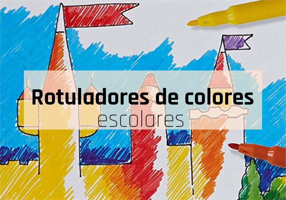Rotuladores de colores escolares