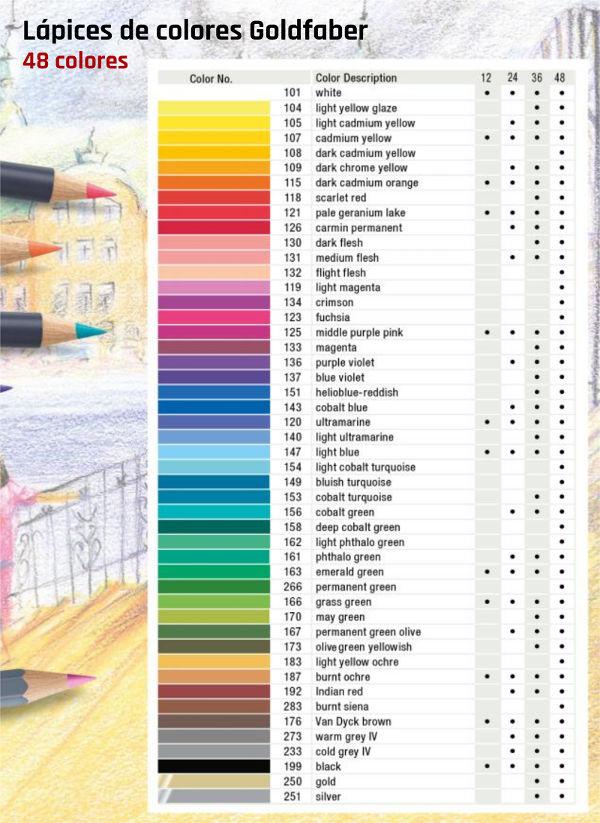 Tabla de colores