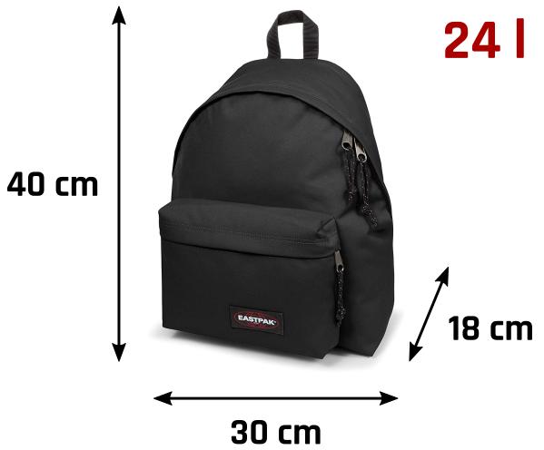 Tamaño mochila Eastpak 24 litros