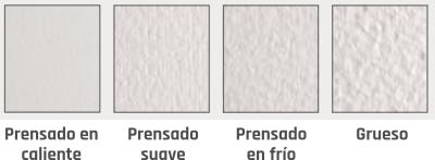 Tipos de grano y prensado del papel Fabriano para acuarela