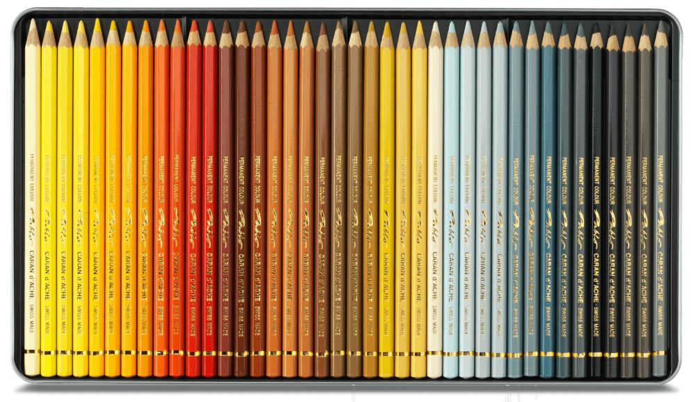 Gama de colores lápices pablo