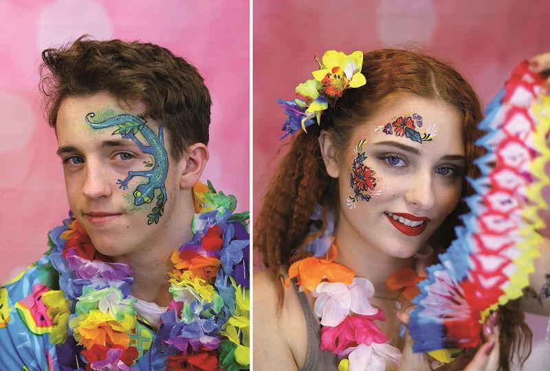 Niños pintados maquillaje escolar Eulenspiegel