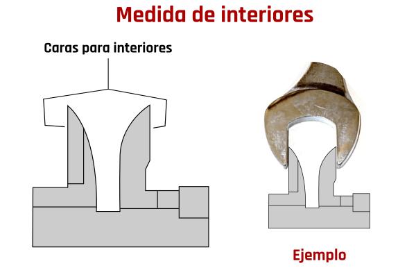 Medida interiores calibre pie de rey