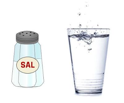 Sal y agua