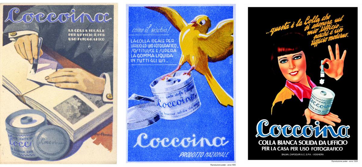 Carteles vintage pegamentos Coccoina