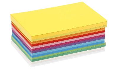 Cartulina escolar de colores en formato A4 y A3
