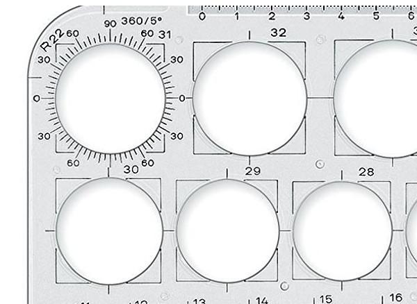 Tipos de plantillas para dibujo técnico